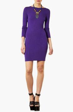 Great color! Topshop Purple Body-Con Dress