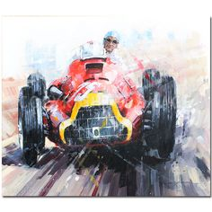 On the Limited (Fangio / Alfa Romeo 159B) Original Painting by John Ketchell