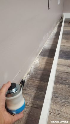 Home Improvement Projects, Home Projects, Home Renovation, Home Remodeling, Camper Renovation, Baseboard Trim, Baseboard Ideas, Bathroom Baseboard, Wainscoting