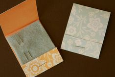 how to make matchbook needle cases