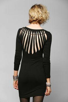 Ladakh Freddie Slash-Back Bodycon Dress