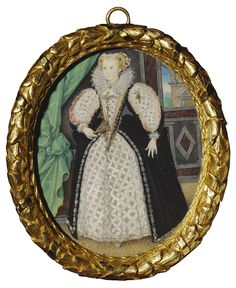 Portrait of a lady, perhaps Penelope, Lady Rich (1563-1607) ~ 1589 miniature by Nicholas Hilliard
