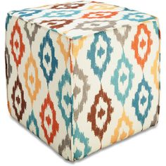 Better Homes and Gardens Pouf Ottoman, Ikat Diamonds: Furniture : $30