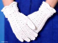 lace knit gloves pattern
