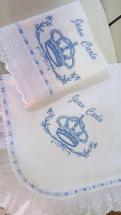 Manta e fralda bordadas | Paula Chioca Munuti | Elo7