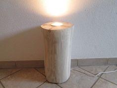 Nr.87, Deckenfluter, 25cm x 23cm x 45cm Stehlampe, Baumstammlampe