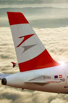 Austrian Airlines Commercial Plane, Commercial Aircraft, Fly Around The World, Airline Logo, International Airlines, Come Fly With Me, Civil Aviation, Air Travel, Flight Attendant