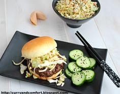 Hoisin Burger with Asian Slaw