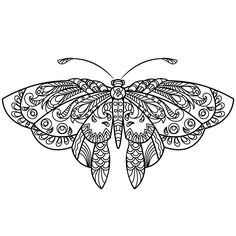 This anti-stress adult coloring book with mandala coloring pages patterns i Insect Coloring Pages, Butterfly Coloring Page, Adult Coloring Book Pages, Butterfly Drawing, Printable Adult Coloring Pages, Mandala Coloring Pages, Animal Coloring Pages, Colouring Pages, Coloring Books