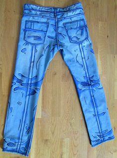 Cel shaded pants Borderlands style men pants by DejaNeufHeures