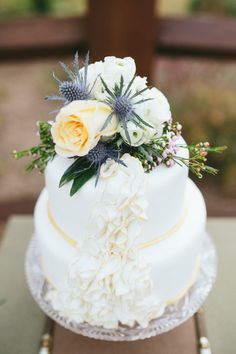 Gorgeous tiered cake | Design by Sweet August Events, Photography by Rachael Hall | Style Me Pretty Living