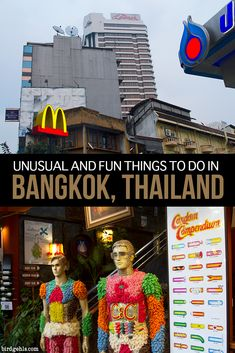 You can explore the usual tourist sites of a city, or you can get off the beaten path. Here are a few unusual and fun things to do in #Bangkok, like enjoying a tasty meal of insects, visiting a weird and spooky museum and exploring an airplane graveyard. / #Thailand / #TravelTips /  Spooky Travel / Weird Tourism /