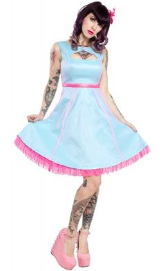 SOURPUSS VINTAGE DANCE CARD DRESS