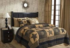 Primitive Star Patch Bedding from Allyson's Place: http://allysonsplace.com/catalog.php?item=6602. See more country products such as these in Country Sampler's November 2015 issue: https://www.samplermagazines.com/detail.html?code=CM61179&source=PIN-FP1115