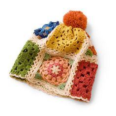 Cute granny square chic hat.