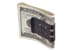 Springs back to hold a single bill Leather Jewelry, Metal Jewelry, Leather Bracelets, Leather Cuffs, Money Clip Wallet, Money Clips, Make Money Online, How To Make Money, Gothic Jewelry