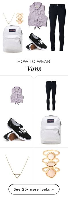 """third day of school outfit idea"" by bubblygirl11 on Polyvore featuring Frame Denim, Abercrombie & Fitch, JanSport, Vans, Monsoon and Banana Republic"
