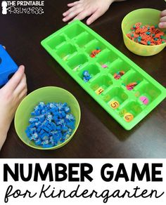 Find out how to play an easy number game for Kindergarten at this blog post! It's a great math activity for the first days of school when you are just getting started! Students will need to work cooperatively and start to learn how the math center games work in your classroom! You could also use this with your preschool or 1st grade students as well! Click through for this great back to school math center game idea.