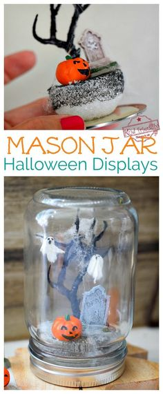 Mason Jar Halloween Scenes {An Easy Halloween Craft} | Kid Friendly Things To Do