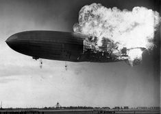 At approximately 7:25 p.m. local time, the German zeppelin Hindenburg burst into flames as it nosed toward the mooring post at the Naval Air Station in Lakehurst, New Jersey, on May 6, 1937. The airship was still some 200 feet above the ground.