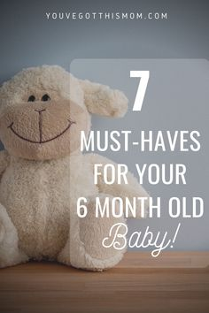 Now that your cute, perfect baby is 6 months, there are a lot of new things you need to know! Learn about baby's first foods and how to nurture their gross motor and fine motor skills. Baby First Foods, 6 Month Old Baby, 6 Month Olds, Second Baby, Gross Motor, First Time Moms, Baby Registry, Fine Motor Skills, Meals For One