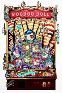 """Image of """"Voodoo Doll Claw Machine"""" 20x30in Print"""