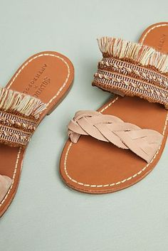 35cf96638418 Soludos x Anthropologie Panarea Braided Slide Sandals  anthropologie  Colorful Shoes