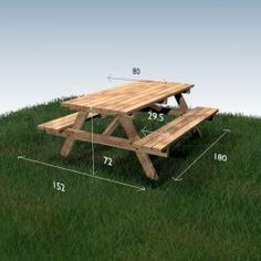 Picnic table Woodworking table Outdoor patio table Patio table Picnic table w… in 2020 Diy Picnic Table, Wooden Picnic Tables, Picnic Table Plans, Patio Table, Woodworking Table Plans, Jet Woodworking Tools, Woodworking Projects, Woodworking Jigsaw, Woodworking Equipment