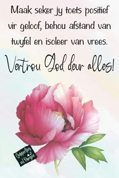 Quotes For Whatsapp, Goeie More, Inspirational Prayers, Afrikaans, My King, Cute Baby Animals, Wisdom Quotes, Cute Babies, Faith
