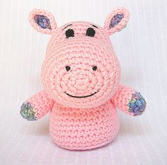 Ravelry, #crochet, free pattern, hippo, stuffed toy, #haken, gratis patroon (Engels), nijlpaard, amigurumi, knuffel, speelgoed, #haakpatroon