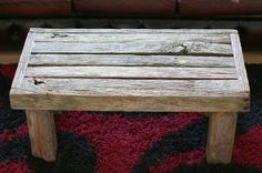 Driftwood and Reclaimed wood coffee table, chunky, very old weathered oak £180.00