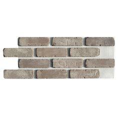 Old Mill Brick Brickwebb Boston Mill Thin Brick Sheets - Flats (Box of 5 Sheets) - 28 in. x 10.5 in. (8.7 sq. ft.)-BW-37001CS - The Home Depot