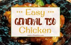 Searching for an easy takeout recipe you can make at home? Try this Easy General Tso Chicken – you'll never want to eat out again! What's your favorite Chinese Takeout meal? Mine … Homemade Chinese Food, Chinese Meals, Chinese Dinner, Chinese Chicken, General Tao Chicken, Slow Cooker Recipes, Cooking Recipes, Oven Recipes, Kitchens
