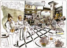 Urban Sketchers Portugal: Inma Serrano in the House-Atelier Vieira da Silva