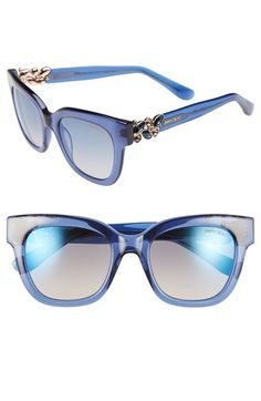 354de1c6fa8 Jimmy Choo  Maggi  51mm Crystal Embellished Sunglasses Round Lens Sunglasses