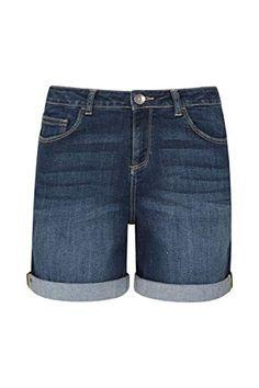Khujo Pantalon Femmes Tottenham bleu en coton-Shorts Pantalon Court Short d/'été