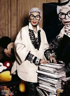 """Iris the Great"": Iris Apfel by Alique for S Moda March 2013"
