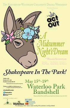 A Midsummer Night's Dream - May 13 - 19, 2018 #shakespeare, #waterloo, #plays, #theatre, #actout