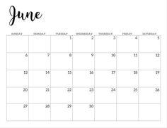 June 2021 calendar page -basic Free Printable Calendar Templates, Printable Calendar 2020, Print Calendar, 2021 Calendar, Planner Template, Printable Planner, Free Printables, Classroom Calendar, School Calendar
