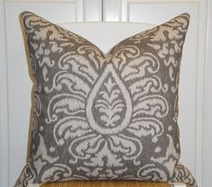 """Pewter Ikat Pillow Cover 20"""" x 20"""" $45"""