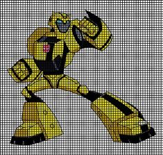Transformers Bumble Bee Cartoon Crochet Pattern-Skill Level for this pattern: Advanced Intermediate Our pattern instructions are easy to read and foll Crochet Border Patterns, Embroidery Patterns, Stitch Patterns, Knitting Patterns, Knitting Ideas, Bumble Bee Cartoon, Crochet Lovey, Crochet Blankets, Afghan Stitch