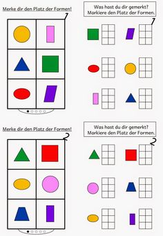 Lernstübchen: Gedächtnistraining mit 6 Formen