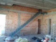 escalera metalica para peldaos madera