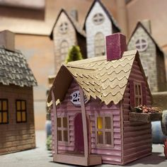 😍 We can't get over @tim_holtz's new Rooftop die set- with 3 variations of rooftops for the perfect dwelling accent depending on the texture and look you want to add to your make!