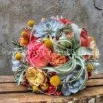 koralowy bukiet ślub