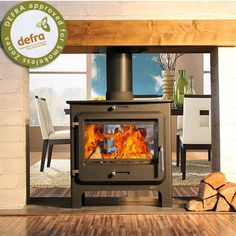 Ekol Clarity Double Sided Multifuel/Woodburning Stove 14kw
