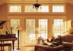 French Door Windows, French Doors, Anderson Doors, American Houses, Glass House, Exterior, Painting, Home Decor, House Of Glass