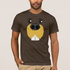 Shop Bucky Beaver Face T-Shirt created by templeofswag. Personalize it with photos & text or purchase as is! Bucky, American Apparel, Shirt Style, Fitness Models, Shirt Designs, Unisex, Mens Tops, T Shirt, How To Wear