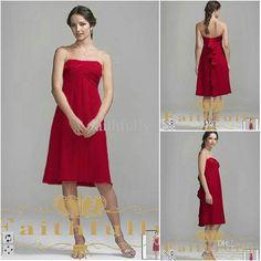 Dark red plus size bridesmaid dresses