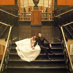 Picture perfect couple shot at the grand staircase!